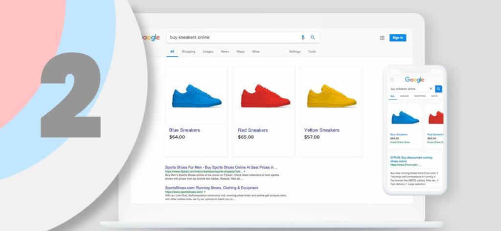 cómo aparecer en Google Shopping paso 2