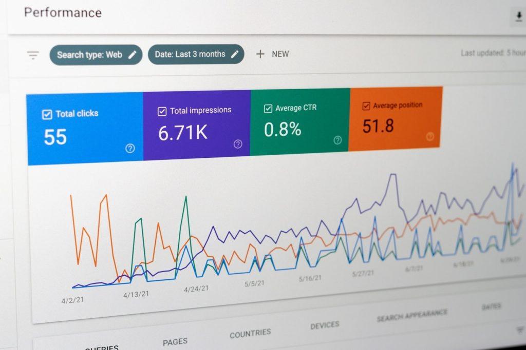 estadísticas de search console de google