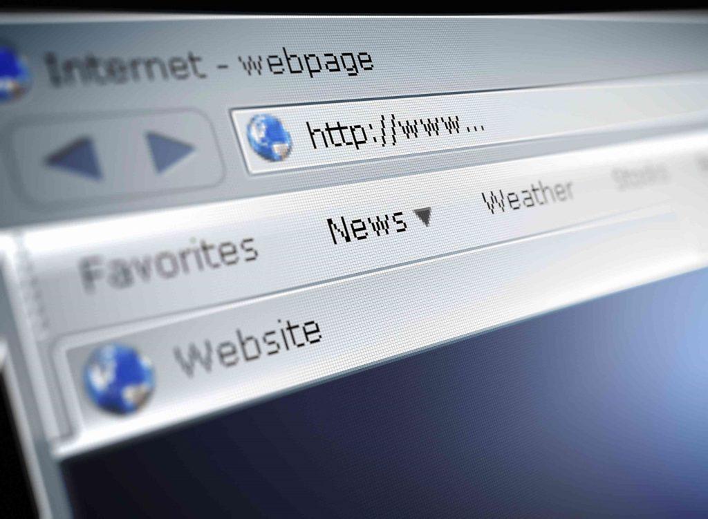 dirección en navegador web